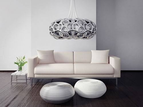 Black and white modern interior design